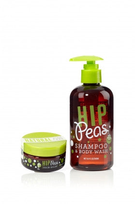 Hip Peas Hair Styling Balm & Shampoo and Body Wash 2oz / 8.4oz - KIDTON - 1