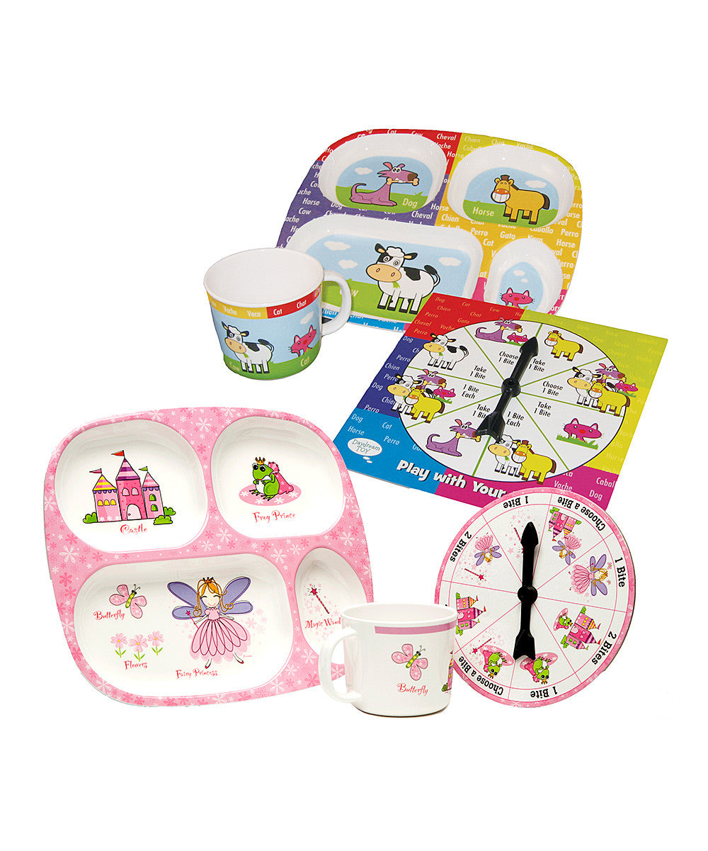 Princess u0026 Animals Set dinnerware set for toddlers - KIDTON - 1 ...  sc 1 st  kidton : princess dinnerware - Pezcame.Com