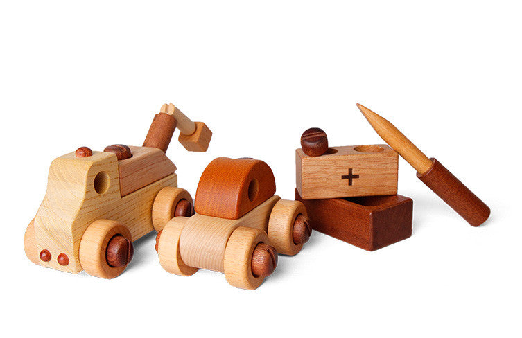 Wooden Car with Tool Kit - KIDTON - 1