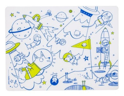 Space Animals Silicone Coloring Placemat By Modern Twist