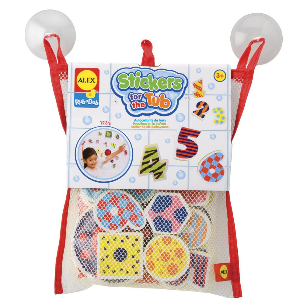 Stickers for the Tub™ NUMBERS & SHAPES - KIDTON - 1
