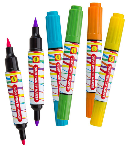 Giant Twin Tip (6) Markers - KIDTON - 1