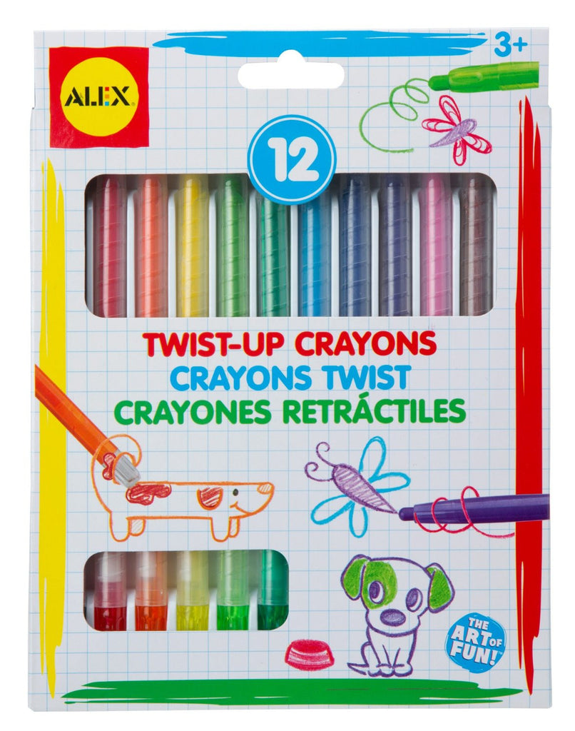 Twist Up Crayons (12) - KIDTON - 1
