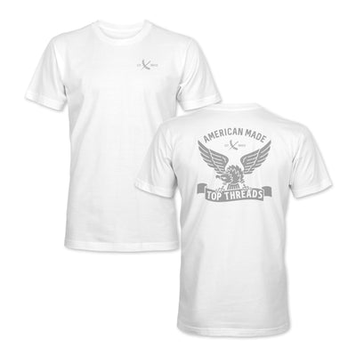 AMERICAN MADE TEE - WHITE/GREY