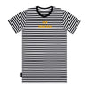 Hooligan Stripe Tee - Black / White