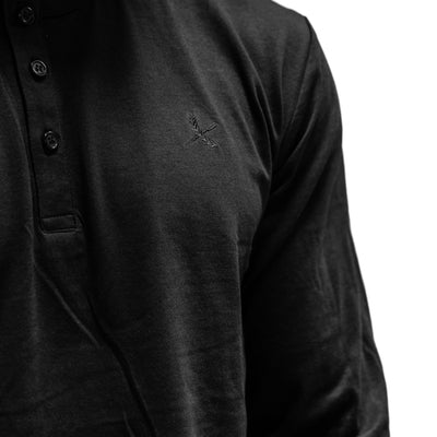 Imperial Henley L/S - Black