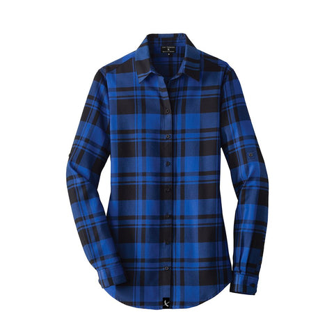 Ladies Imperial Flannel - Royal / Black