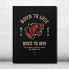 Bred To Win Canvas - Black/Red