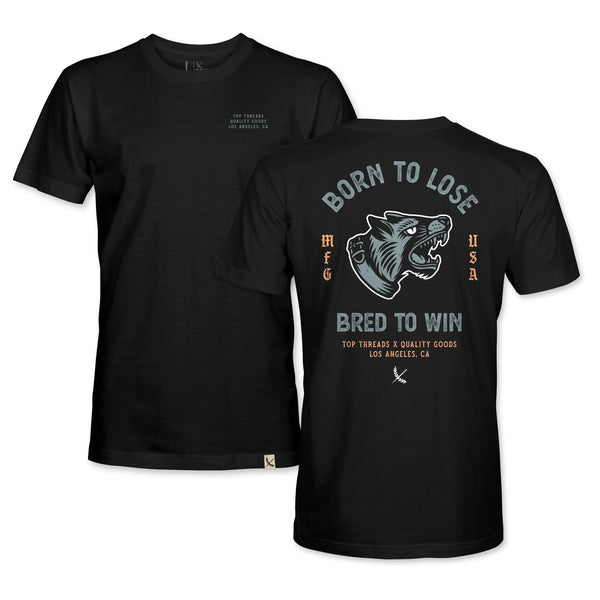 BRED TO WIN TEE - BLACK/GREY