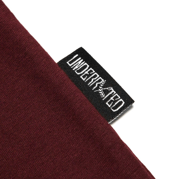 Quality Goods Tee - (Burgundy/White)
