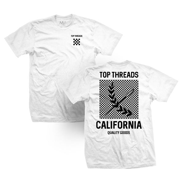 Check Tee - White/Black