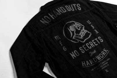 No Hand Outs Denim Jacket - Black