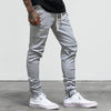 Premium Zip Closure Joggers - Grey