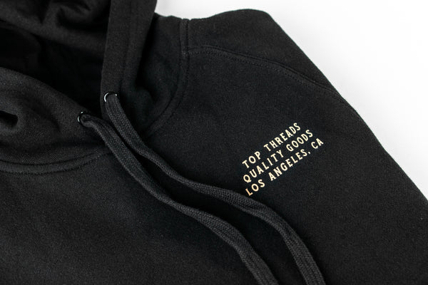 BRED TO WIN HOODIE - BLACK/RED