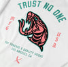 TRUST NO ONE TEE - WHITE