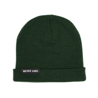 Never Lose Skullcap Fold Beanie- Forest Green