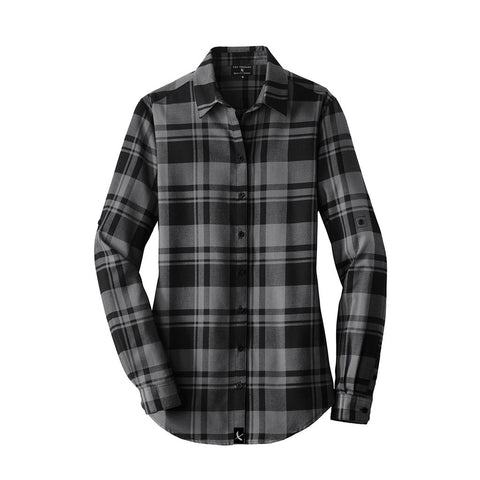 Ladies Imperial Flannel - Black / Grey