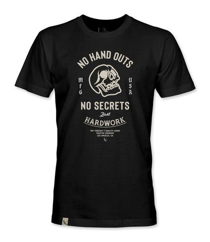 No Hand Outs Tee - Black (NEW FIT)