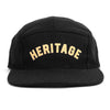 Heritage 5 Panel Cap - Black