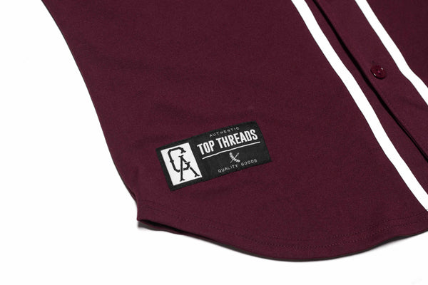 Imperial Baseball Jersey- Burgundy