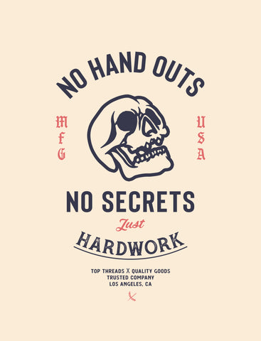No Handouts Poster - Cream