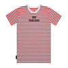 Hooligan Stripe Tee - Red