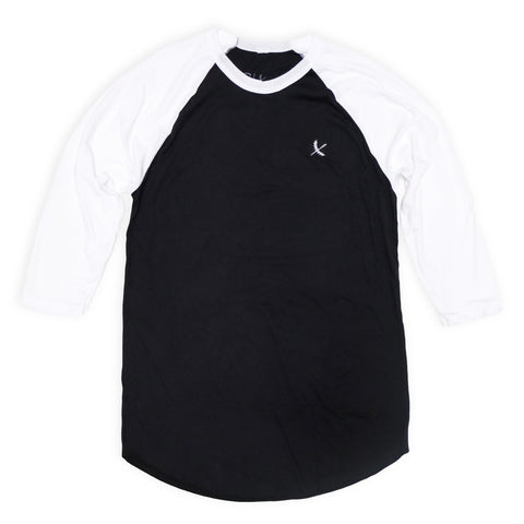 Imperial Raglan Tee - Black / White