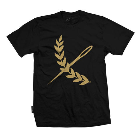 Oversized Imperial Tee - Black / Vintage Gold