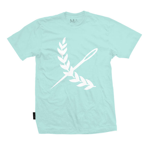 Oversized Imperial Tee - Teal / White