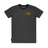Los Angeles Stripe Tee - Black / Grey