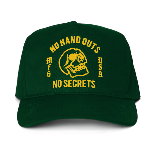 No Hand Outs Cap - Green/Yellow