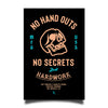 No Hand Outs Sticker - Black/Orange