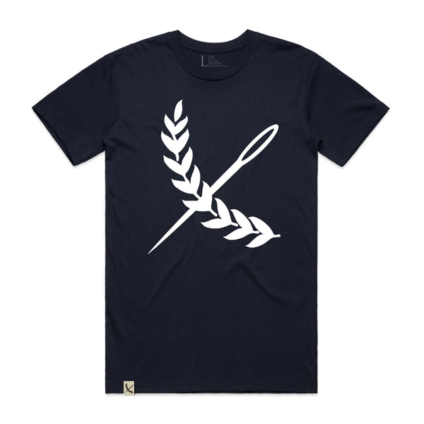 Oversized Imperial Tee - Navy / White