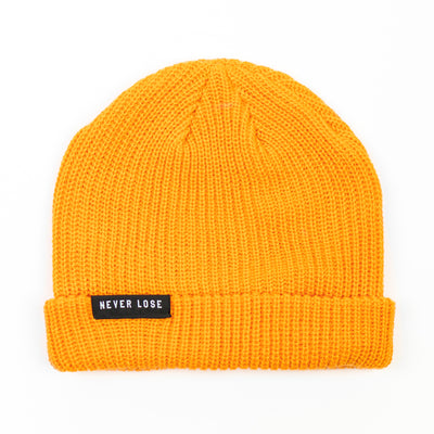 NEVER LOSE Knit Beanie- Gold