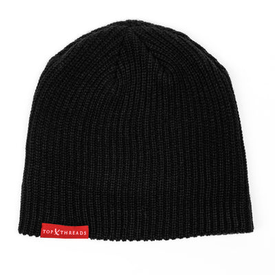 NEVER LOSE Knit Beanie- Black