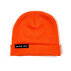 Never Lose Skullcap Fold Beanie - NEON ORANGE