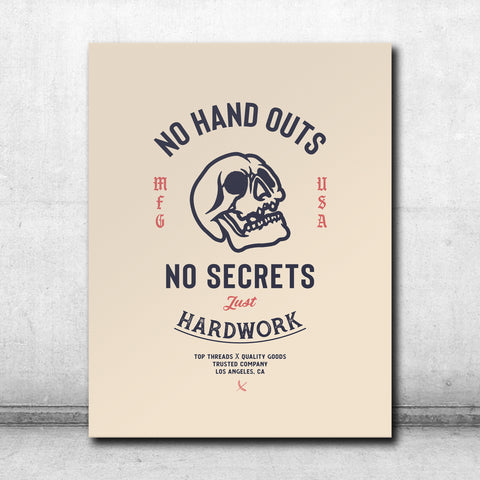 No Handouts Canvas - Cream
