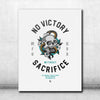 No Victory Canvas - White