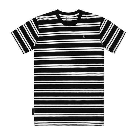 IMPERIAL PIRATE TEES - BLACK/WHITE STRIPE (WHITE IMPERIAL)