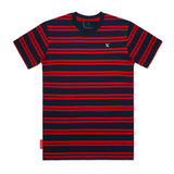IMPERIAL PIRATE TEES - NAVY/RED STRIPE (WHITE IMPERIAL)