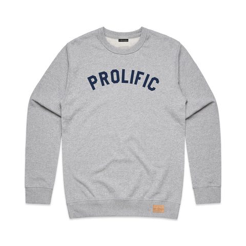 Prolific Crew Neck -  Heather Grey