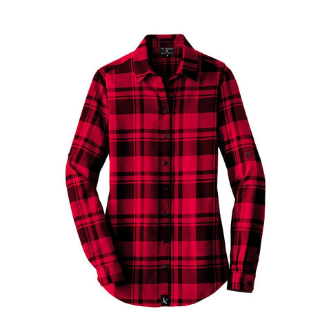 Ladies Imperial Flannel - Black / Red