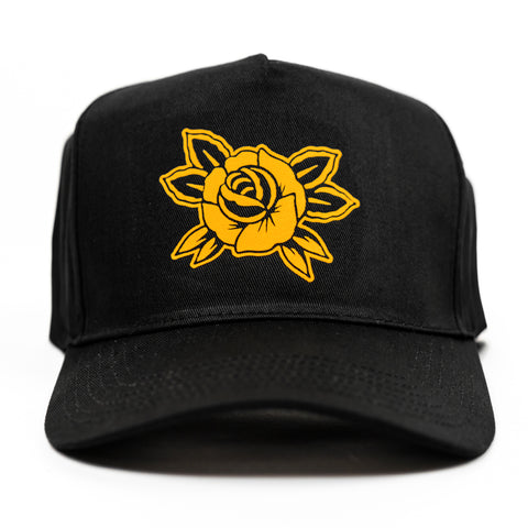 Rose Cap - Black / Gold