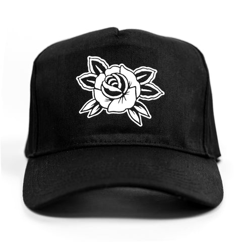 Rose Cap - Black / White