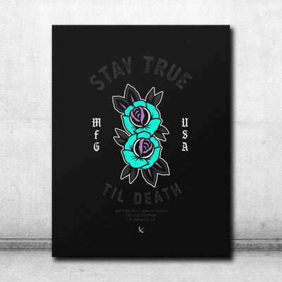 Stay True Canvas - Black / Teal