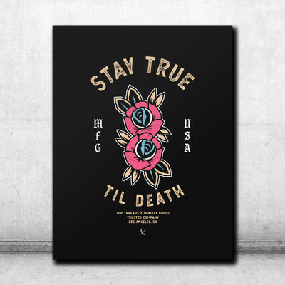 Stay True Canvas - Black/Tan
