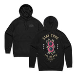 STAY TRUE TIL DEATH HOODIE - BLACK