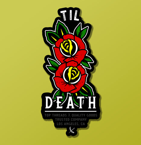 Til Death Sticker - Red