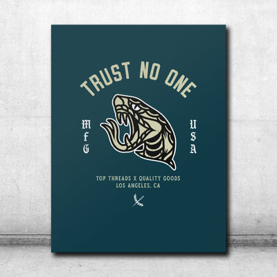 Trust No One Canvas - Green