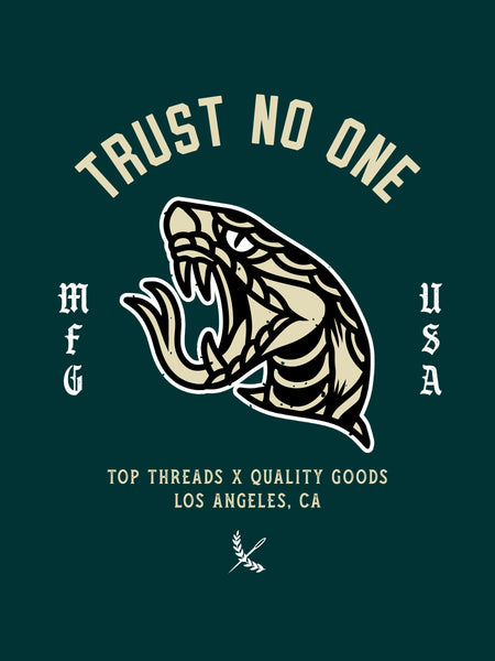 Trust No One Poster - Green